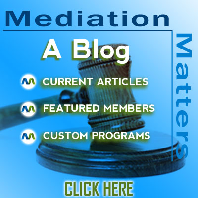 Mediation Matters. Find out why.