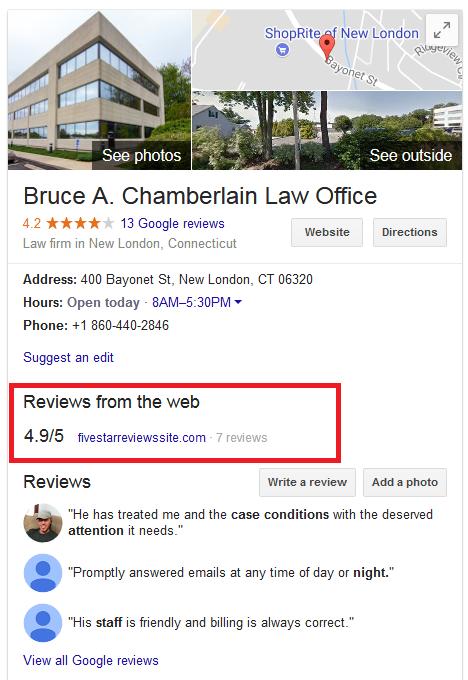 Bruce Chamberlain Attorney Reviews Map